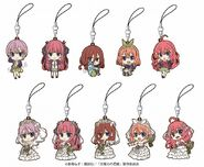 5Toubun Keychain from Gema - All Nakano Quintuplets