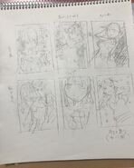 Negi Haruba's volume 7 cover rough drafts