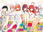5toubun characters color art - Volume 7 release
