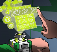 Omnitrix Settings Panel