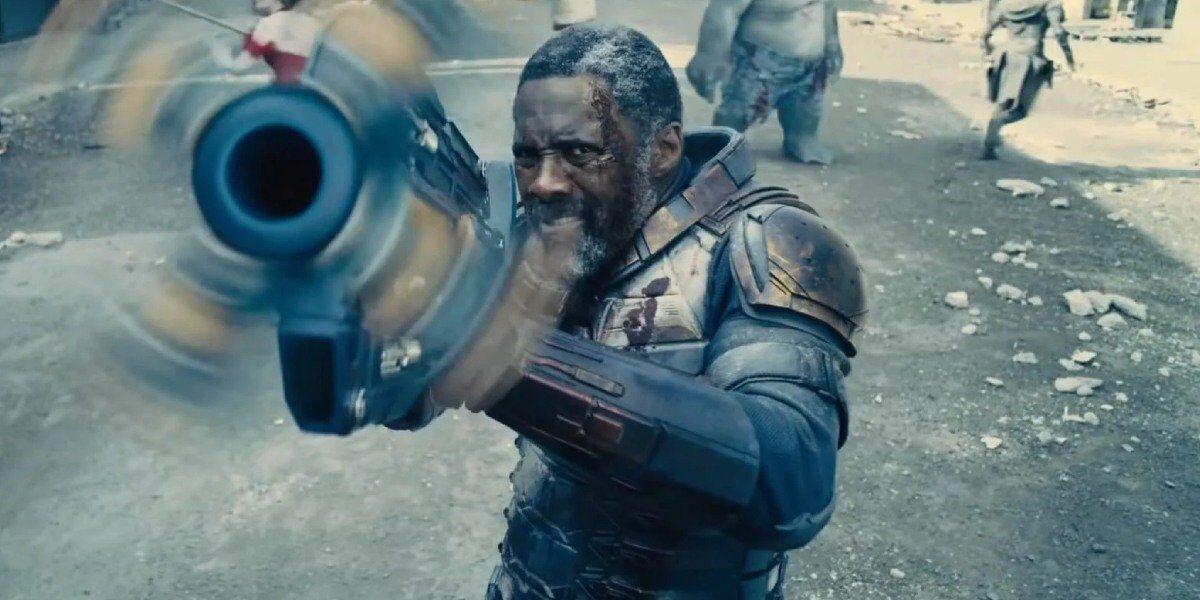 Idris Elba in action as Bloodsport.