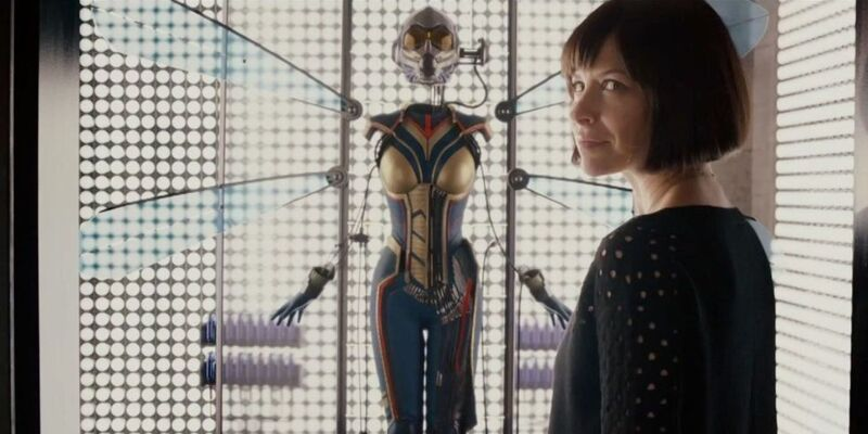 Hank Pym shows his daughter the new Wasp suit