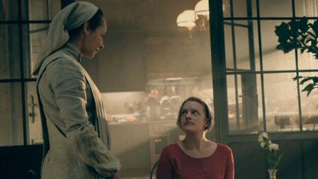 Rita and Offred in The Handmaid's Tale
