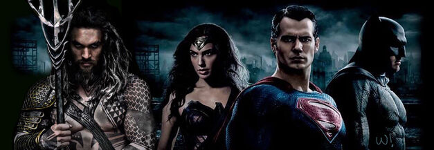 justice league aquaman wonder woman superman and batman