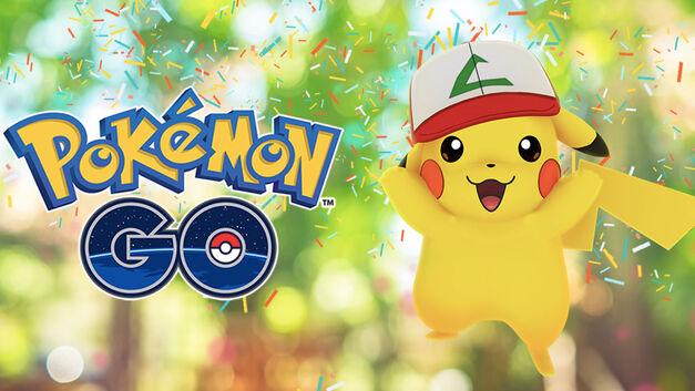 Pokemon Go anniversary Pikachu ash