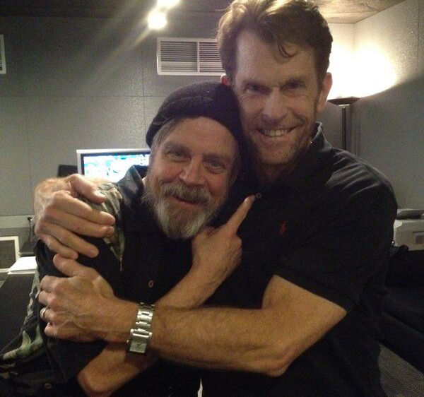 Mark Hamill and Kevin Conroy hugging