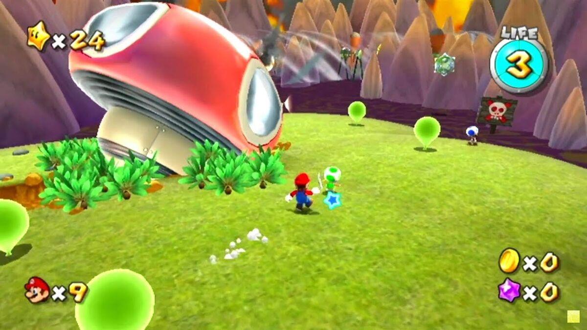 Gameplay screenshot from Super Mario Galaxy