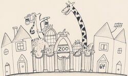 Early Drawing of 64 Zoo Lane