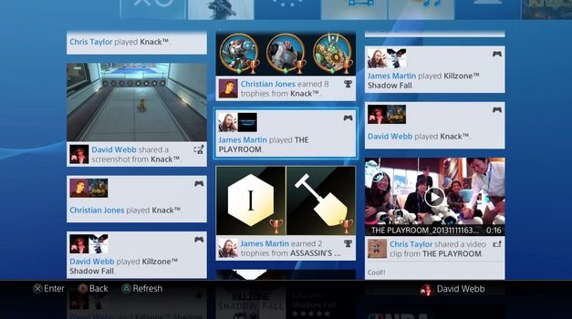 Playstation 4 Social Interface
