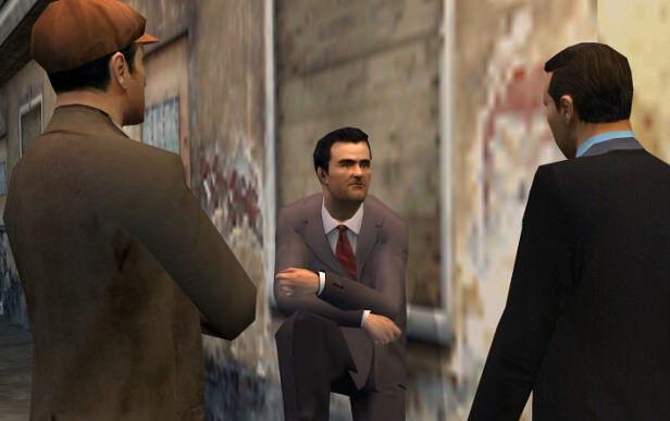 mafia video game three gangsters in dapper suits