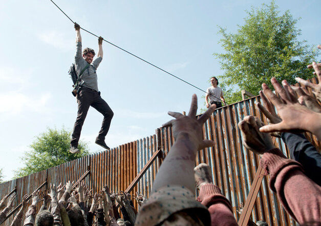 the walking dead wall