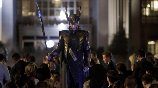 Loki forces a crowd in Germany to kneel