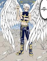 Cross as an angel by SparkAlchemist