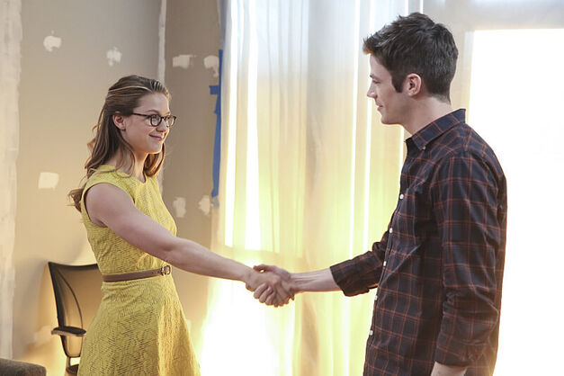 Kara and Barry Handshake
