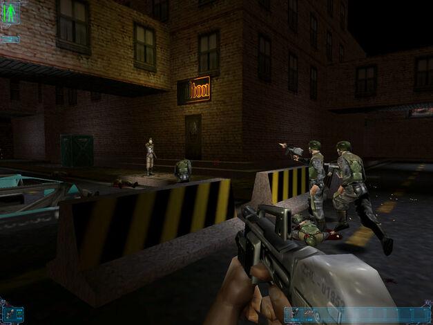 A screenshot of the original Deus Ex.