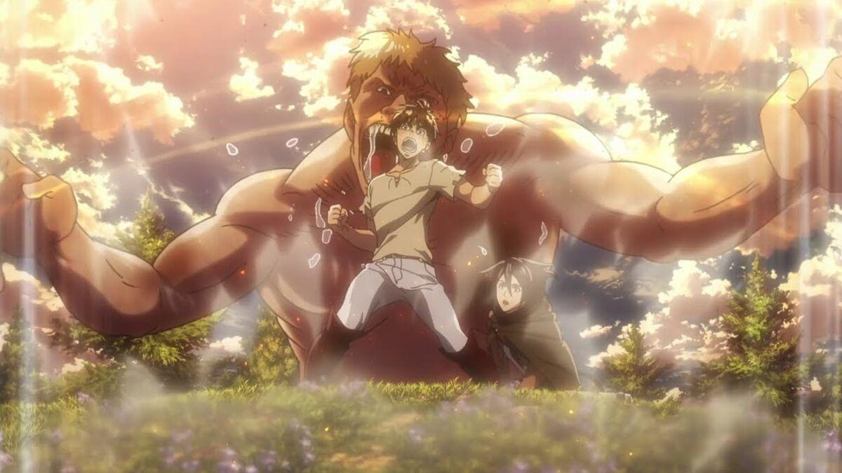 Attack on Titan Eren using coordinate powers