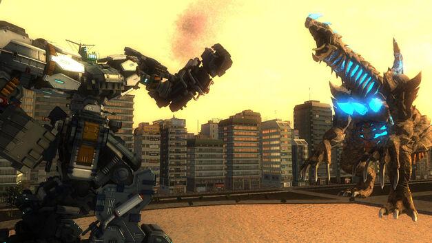 EDF Mech vs Kaiju
