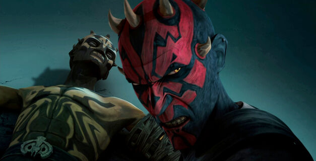 Maul loses his brother, Savage Opress, during a duel with Darth Sidious.