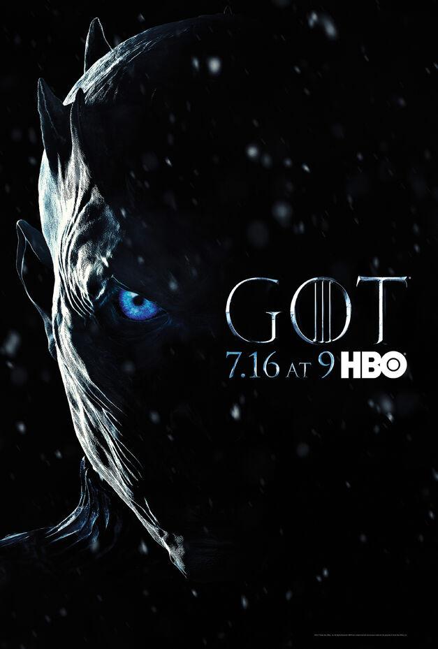 Game of Thrones Season 7 Night King poster.