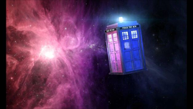 The TARDIS in space Doctor Who