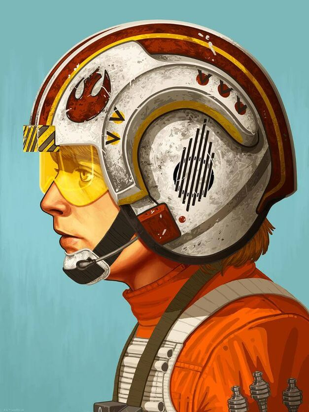red five star wars mondo