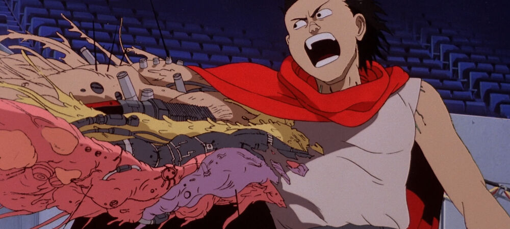 Tetsuo replacing his blown off arm in Akira