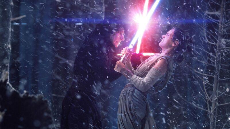 Rey Kylo Fight Star Wars: The Last Jedi Force Awakens