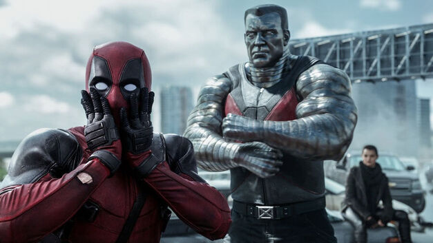 Shocked Deadpool with Colossus