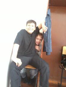 И его друг Денис