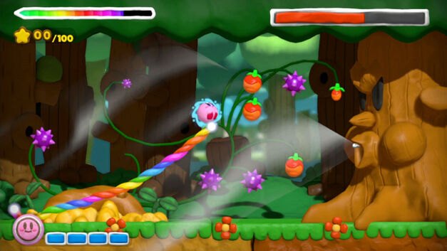 Fight bosses in a new way in the stylus-driven Kirby and the Rainbow Curse.