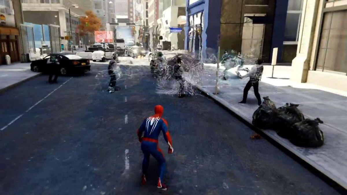 Spider-Man Web Bomb explosion PS4 gadgets list
