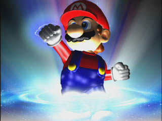 An image of Mario coming to life in Super Smash Bros. Melee.