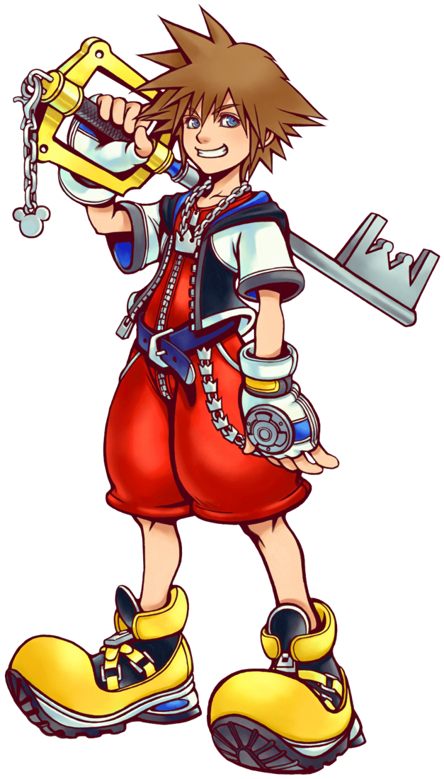 sora with keyblade from game Kingdom Hearts