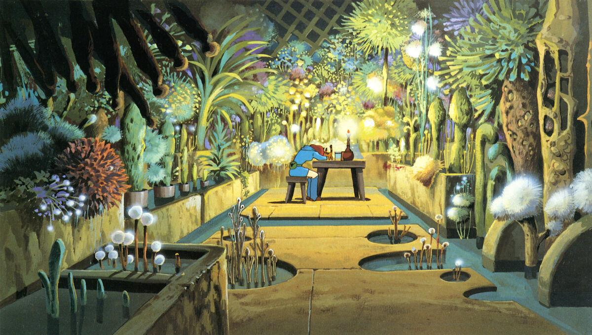 Nausicaa in her secret garden.