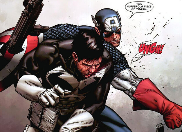 Captain America beats Punisher Civil War