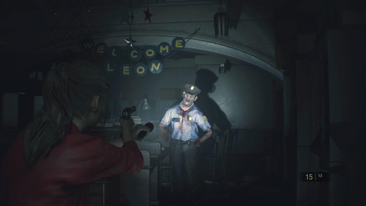 Resident Evil 2 police zombie