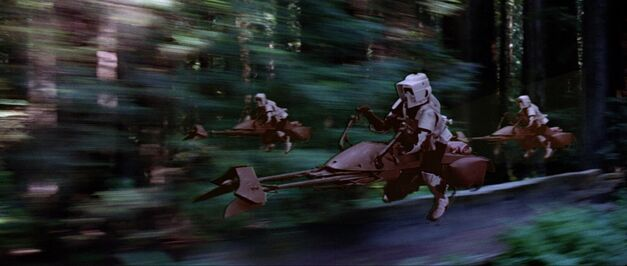 Scout troopers and bikes