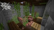 Brick house ruined bedroom
