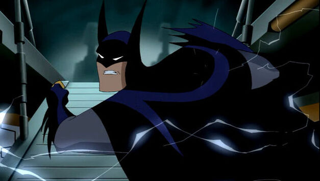 animated batman punching