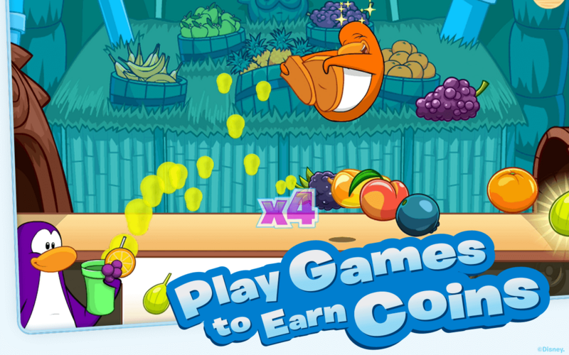 Club Penguin gamers can earn coins to use toward igloo and wardrobe upgrades.