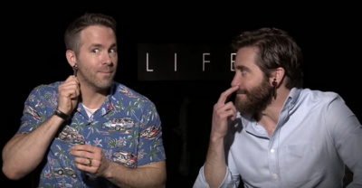 Watch Ryan Reynolds and Jake Gyllenhaal Go Batsh--t Crazy During a Press Interview