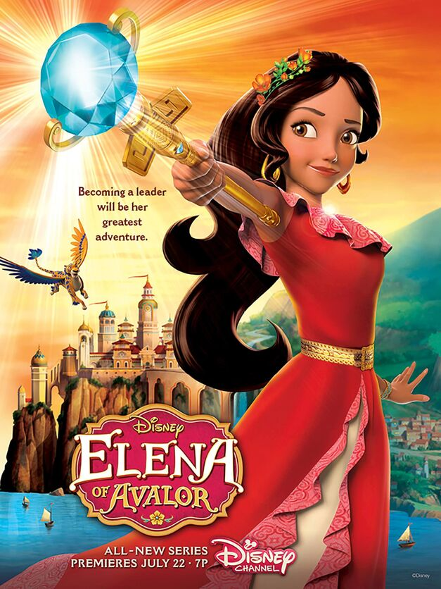 ELENA OF AVALOR - Princess Elena of Avalor will make her royal debut in the highly anticipated animated series Elena of Avalor, with a one-hour premiere event FRIDAY, JULY 22 (7:00-8:00 p.m., EDT), on Disney Channel. (Disney Channel)
