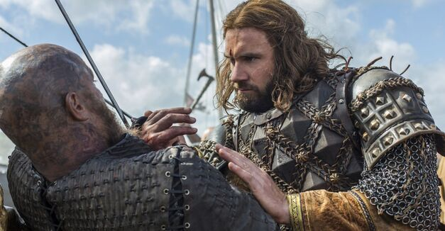 vikings season 4 rollo and ragnar in a sword fight