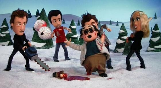 "The gang in ""A Very Sunny Christmas"""