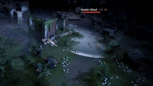 Three squad members hide in Mutant Year Zero