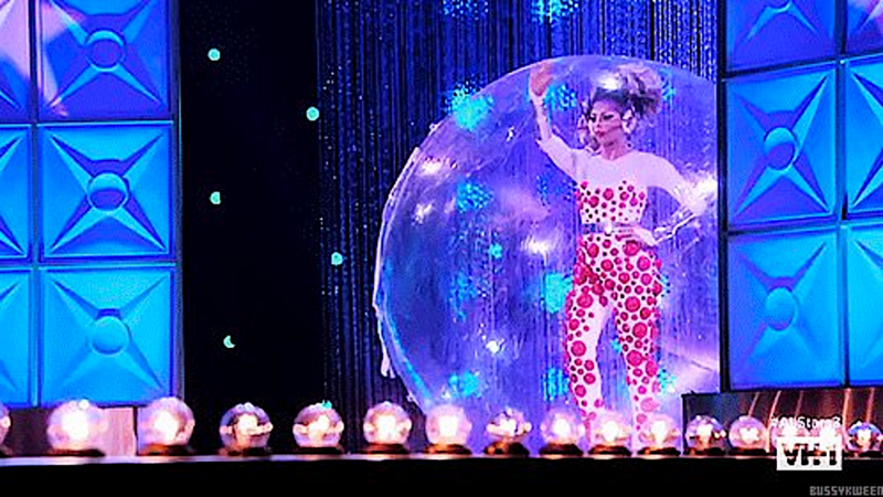 Drag Race All Stars 3 Shangela in a bubble