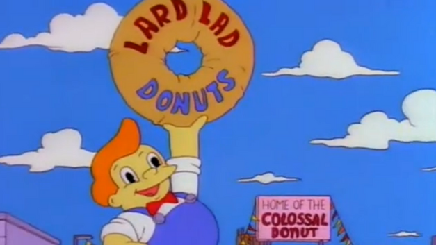 Lard Lad Donuts in The Simpsons -- Best Donut Shops in Movies and TV