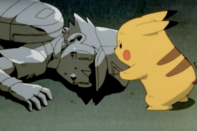 Pikachu tries to wake Ash