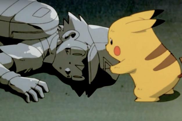 Pikachu tries to wake Ash