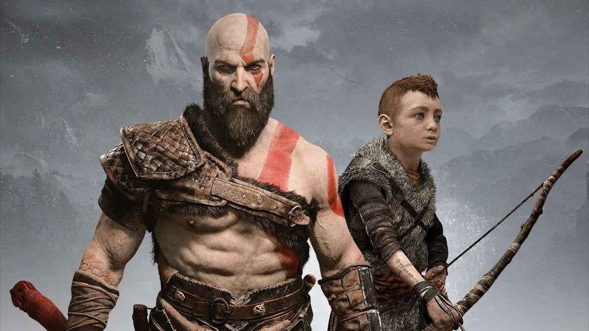 Kratos and Atreus standing together God Of War